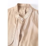 best Stand Collar Lace-Up Solid Color Trench Coat
