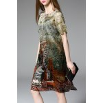 Character Print A Line Dress Twinset deal
