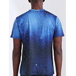 Abstract 3D Star Print Round Neck Short Sleeves T-Shirt For Men deal