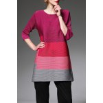 Creased Color Block Tunic Top deal