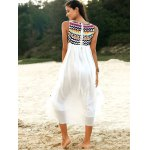 Ethnic Style Round Neck Sleeveless Embroidery Dress For Women deal