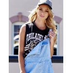 Tiger Letter Print Cotton Cropped Tank Top deal