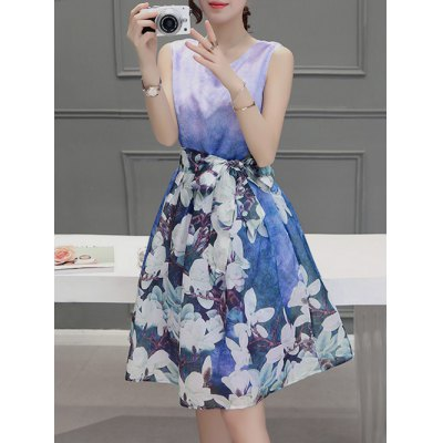 Sweet Scoop Neck Sleeveless Floral Print Pleated Dress For WomenWomens Clothing<br>Sweet Scoop Neck Sleeveless Floral Print Pleated Dress For Women<br><br>Style: Work<br>Material: Polyester,Spandex<br>Silhouette: A-Line<br>Dresses Length: Knee-Length<br>Neckline: Scoop Neck<br>Sleeve Length: Sleeveless<br>Pattern Type: Floral<br>With Belt: No<br>Season: Summer<br>Weight: 0.172kg<br>Package Contents: 1 x Dress