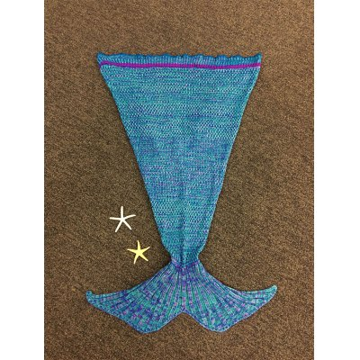 Knitted Mermaid Tail Design Blankets
