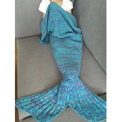 Knitted Mermaid Baby Blanket