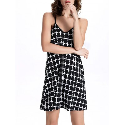 Cami Checked Pattern Dress