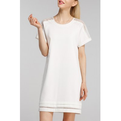 Cutwork Mini Shift Dress