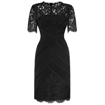 Lace Panelled Dress For Women