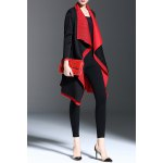 best Color Block Waterfall Coat
