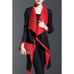 Color Block Waterfall Coat