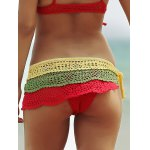 Color Block Layered Crochet Skirted Bathing Suit Bottom deal