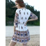 Casual Lantern Sleeve Ethnic Print Women's Dress for sale