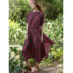 Bohemian Small Floral Print Women's Midi Dress deal