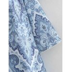 Stylish Blue and White Women's Porcelain Dress for sale