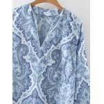 Stylish Blue and White Women's Porcelain Dress deal