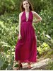 Stylish Halter Neck Sleeveless Backless Solid Color Women's Dress for sale