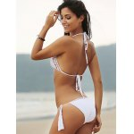 Halter Hollow Out Crochet Bathing Suit for sale
