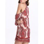 Stylish Cami Cut Out Paisley Print Women's Dress deal