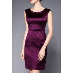 Beading Embellished Solid Color Dress deal