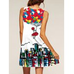 cheap Trendy Digital Print Women's Tank Dress