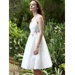 Stylish Spaghetti Straps Sleeveless Floral Embroidery Women's Dress deal