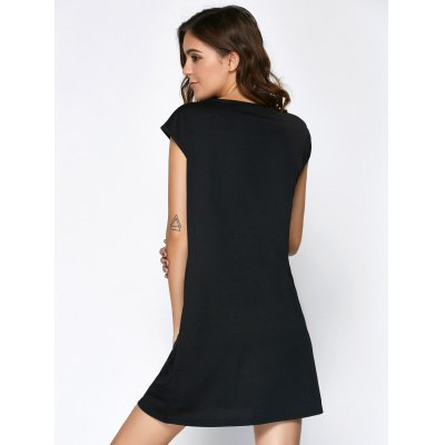 Stylish Scoop Neck Short Sleeve Hollow Out Dress For Women от GearBest.com INT