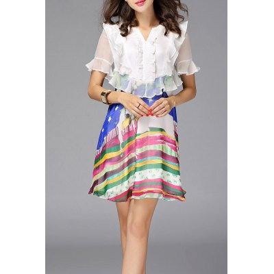 Ruffles Colorful Dress
