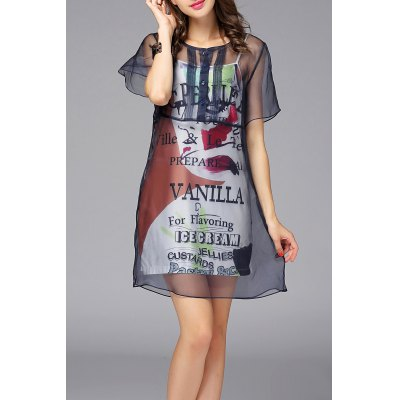 See-Through Mini Dress and Cami Dress Twinset