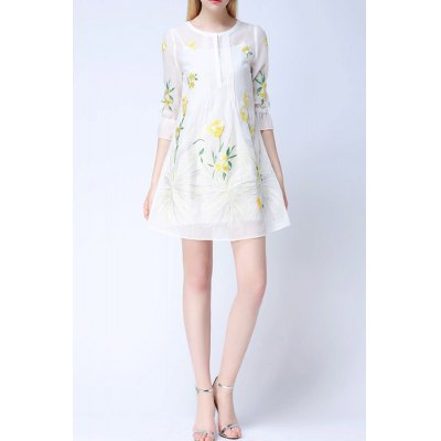 Floral Flare Dress Twinset For Women