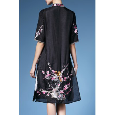 Embroidery Mandarin Collar Blouse For WomenDesigner Sweaters &amp; Cardigans<br>Embroidery Mandarin Collar Blouse For Women<br><br>Material: Cotton,Silk<br>Composition: 80% Silk,20 Cotton<br>Clothing Length: Long<br>Sleeve Length: Short<br>Collar: Mandarin Collar<br>Pattern Type: Floral<br>Style: Fashion<br>Seasons: Summer<br>Weight: 0.420kg<br>Package Contents: 1 x Blouse