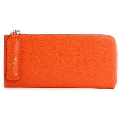 Simple Letter and Solid Color Design Wallet For Women