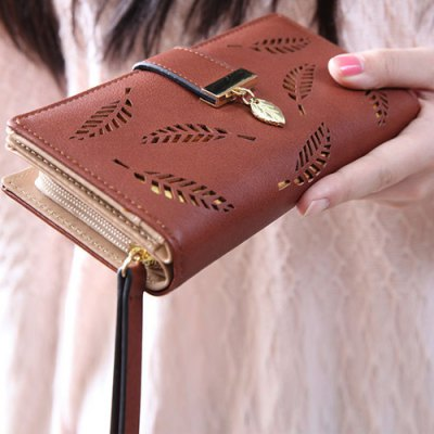 Stylish Leaves and Hollow Out Design Wallet For WomenWomens Bags<br>Stylish Leaves and Hollow Out Design Wallet For Women<br><br>Wallets Type: Clutch Wallets<br>Gender: For Women<br>Style: Fashion<br>Closure Type: Zipper&amp;Hasp<br>Pattern Type: Others<br>Main Material: PU<br>Length: 19CM<br>Width: 3.2CM<br>Height: 10CM<br>Weight: 0.213kg<br>Package Contents: 1 x Wallet