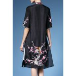 cheap Embroidery Mandarin Collar Blouse For Women