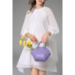Loose Solid Color Layered Dress deal