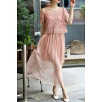 Cami Dress and Lace Blouse Twinset