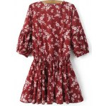 cheap Stylish V Neck Half Sleeve Floral Women's Dress