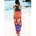 Empire Waist Printed Maxi Summer Dress for sale