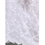 best Snowflake Embroidered A Line Maxi Prom Dress