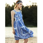 Stylish Straps Sleeveless Fitting Floral Print Women's Dress deal
