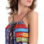 Printed Elastic Waisted Long Cami Dress for sale
