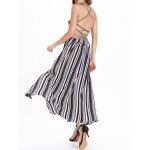 Bohemian Backless Stripe  Lace-Up Dress for sale