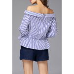 cheap Striped Off Shoulder Blouse