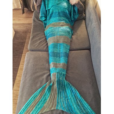 Fashion Stripe Knitted Mermaid Tail Design Blankets For AdultsBedding<br>Fashion Stripe Knitted Mermaid Tail Design Blankets For Adults<br><br>Type: Knitted<br>Material: Acrylic<br>Pattern Type: Solid<br>Size(L*W)(CM): 180*90CM<br>Weight: 0.945kg<br>Package Contents: 1 x Blanket