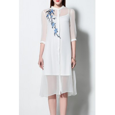 Cami Dress and See-Through Dress Twinset