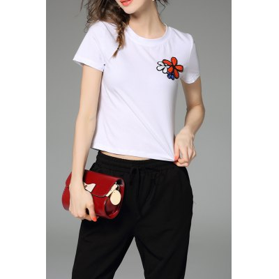 Fitting Floral Sequined T-Shirt
