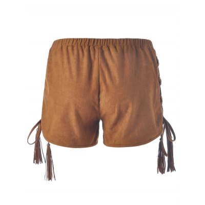 Women's Chic Lace-Up Pure Color Shorts