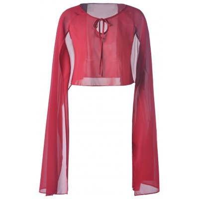 Chiffon Pure Color Top For Women