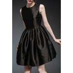 Buy Waisted Corset Solid Color Dress L BLACK