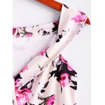 Vintage Sleeveless Floral Print Waisted A Line Dress For Women deal