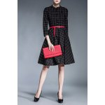 Belted Checked Shirt Dress for sale